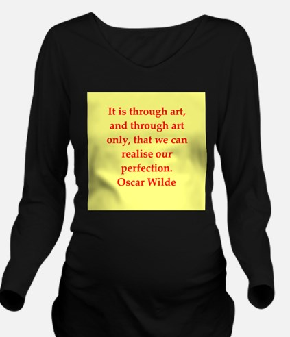 oscar wilde quote Long Sleeve Maternity T-Shirt