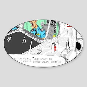 Airline Mug Sticker (Oval)