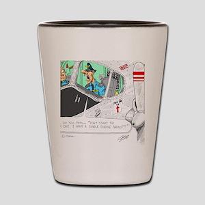 Airline Mug Shot Glass
