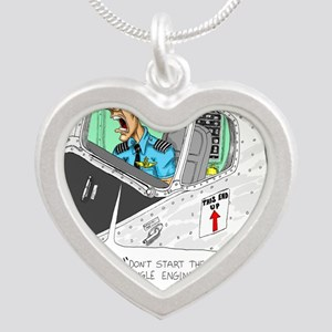 Airline Mug Silver Heart Necklace