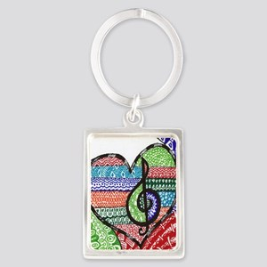 Music is a Song in Your Heart Portrait Keychain