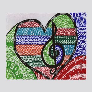 Music is a Song in Your Heart Throw Blanket