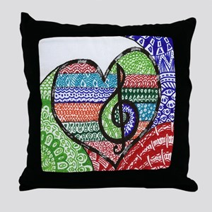 Music is a Song in Your Heart Throw Pillow