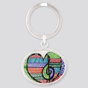 Music is a Song in Your Heart Oval Keychain