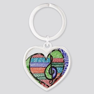Music is a Song in Your Heart Heart Keychain