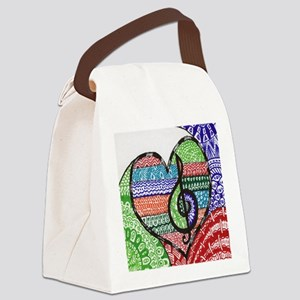Music is a Song in Your Heart Canvas Lunch Bag