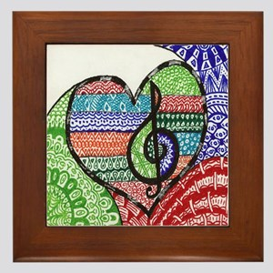 Music is a Song in Your Heart Framed Tile
