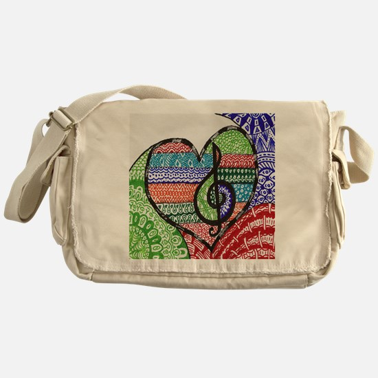 Music is a Song in Your Heart Messenger Bag
