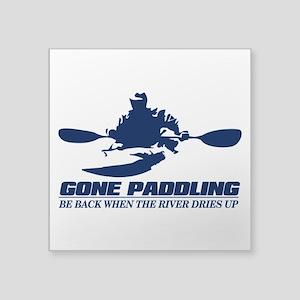 Gone Paddling Sticker