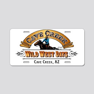 Wild West Days Logo Aluminum License Plate