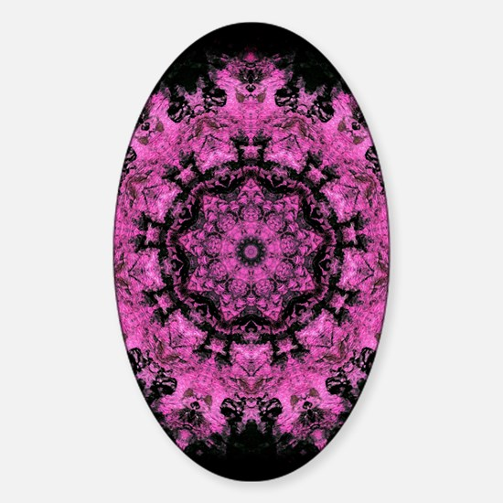 Pink Abstract Sticker (Oval)
