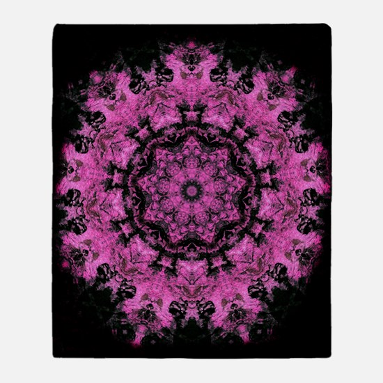 Pink Abstract Throw Blanket