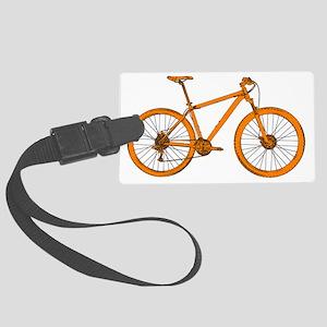 Dark Orange Hardtail Large Luggage Tag