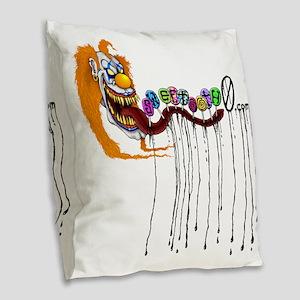 sweetooth0shirt Burlap Throw Pillow