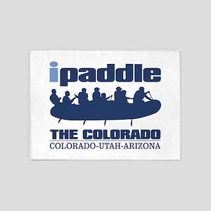 ipaddle raft (Colorado River) 5'x7'Area Rug