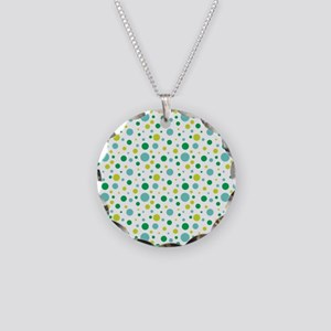 Wendell Dot Pattern Necklace Circle Charm