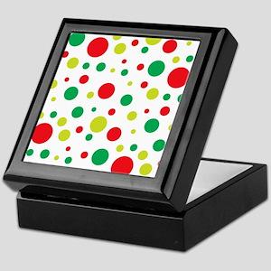 Christmas Dot Circle Pattern Keepsake Box