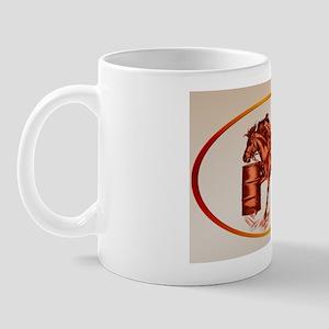 Barrel Racing_  oval_sticker Mug