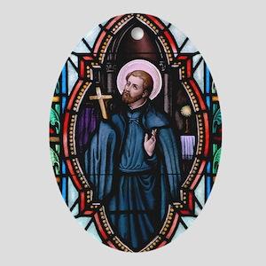 St Francis Xavier Oval Ornament