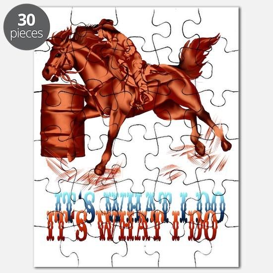 IBarrel Racing_Its what I do Trans 4x5Trans Puzzle