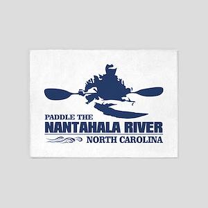Paddle the Nantahala 5'x7'Area Rug