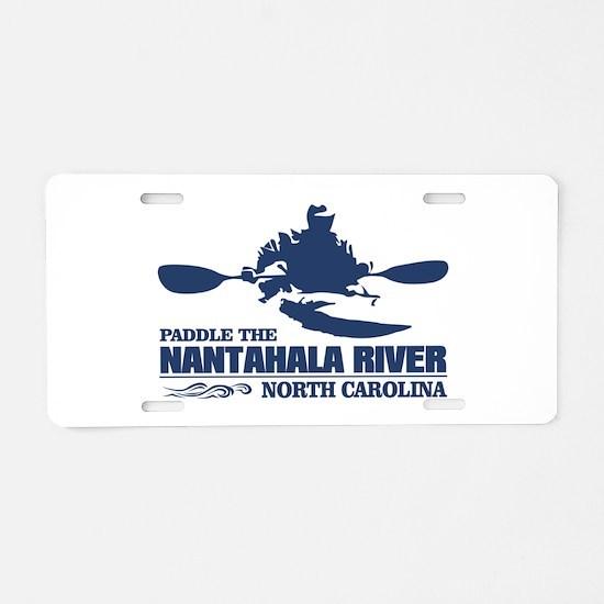 Paddle the Nantahala Aluminum License Plate