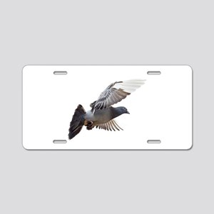 pigeon fly to love joy peace Aluminum License Plat