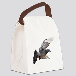 pigeon fly to love joy peace Canvas Lunch Bag