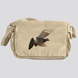 pigeon fly to love joy peace Messenger Bag