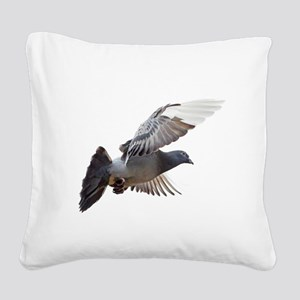 pigeon fly to love joy peace Square Canvas Pillow