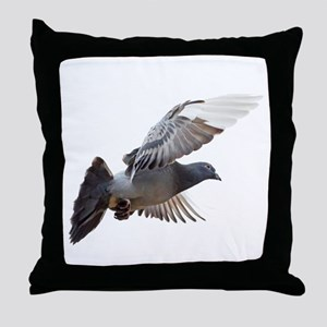 pigeon fly to love joy peace Throw Pillow