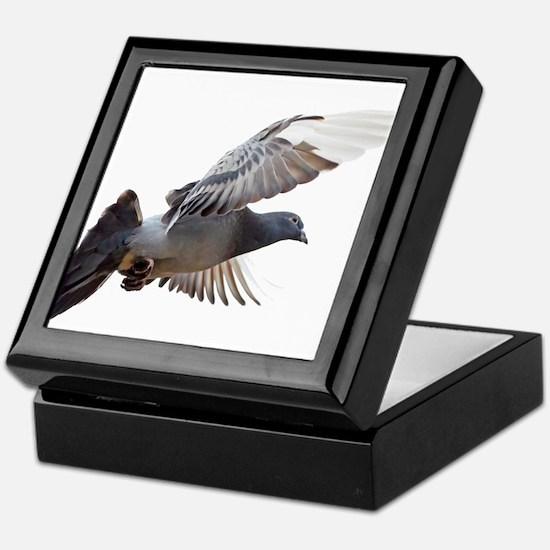 pigeon fly to love joy peace Keepsake Box