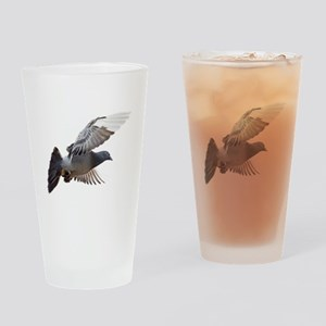 pigeon fly to love joy peace Drinking Glass