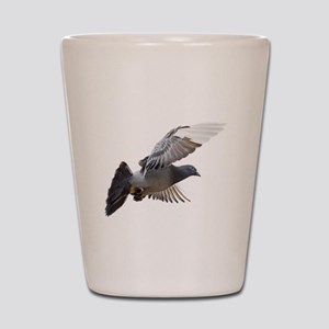 pigeon fly to love joy peace Shot Glass