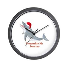 Personalized Christmas Dolphin Wall Clock