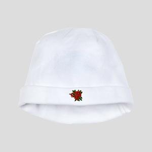 SPARKLING POINSETTIAS baby hat
