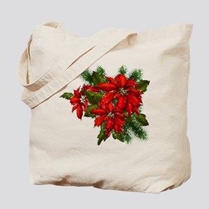 SPARKLING POINSETTIAS Tote Bag