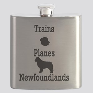 Trains, Planes, Newfoundlands Flask