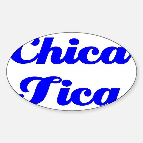 Chica Tica cp Sticker (Oval)