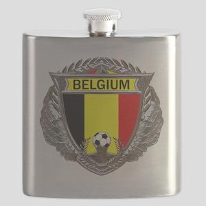 Belgium Soccer bear Flask