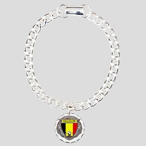 Belgium Soccer bear Charm Bracelet, One Charm