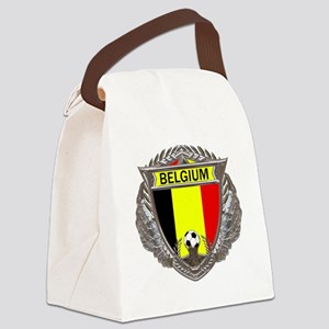 Belgium Soccer bear Canvas Lunch Bag