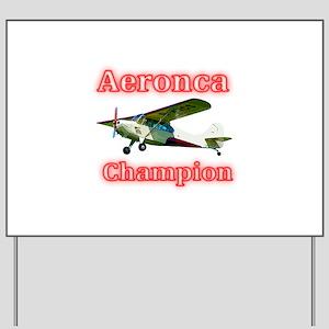 Aeronca Champion Yard Sign