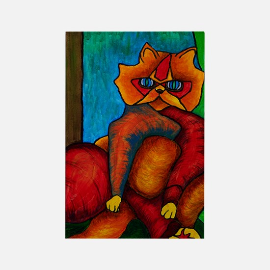 FatCat9X12Print Rectangle Magnet