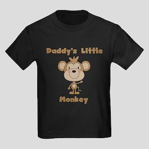 Daddy's Little Monkey Kids Dark T-Shirt