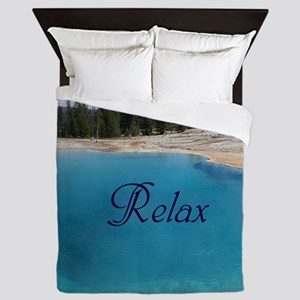 Customize this Clear Blue Geyser Pool Queen Duvet