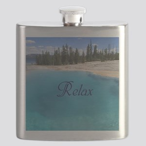 Customize this Clear Blue Geyser Pool Flask