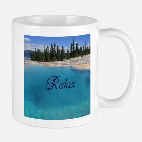 Customize this Clear Blue Geyser Pool Mugs