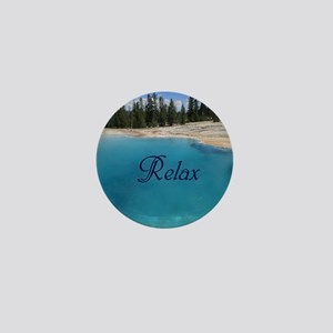 Customize this Clear Blue Geyser Pool Mini Button