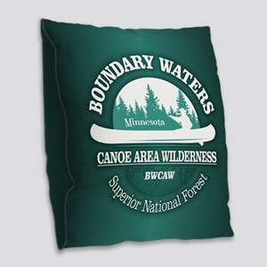 Boundary Waters Burlap Throw Pillow